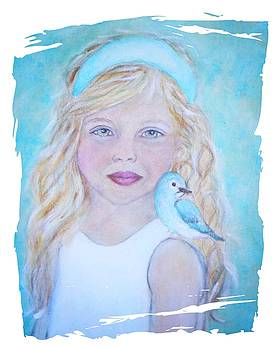 Gwyneth Little Earth Angel of Happiness by The Art With A Heart By Charlotte Phillips