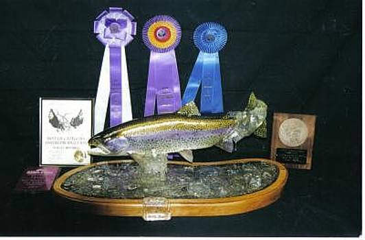 Hand Carved Rainbow Trout by Stacey Mitchell