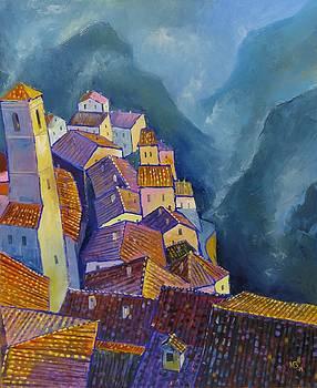 Hilltop village by Mikhail Zarovny