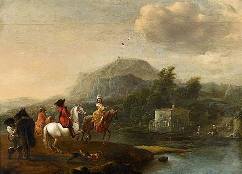 Horseman at a Ford by Pieter Wouwerman