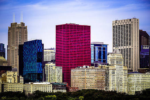 Paul Velgos - Image of Downtown Chicago City Office Buildings