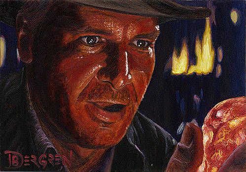 Indiana Jones Masterpieces Sketch Card by Daniel Bergren