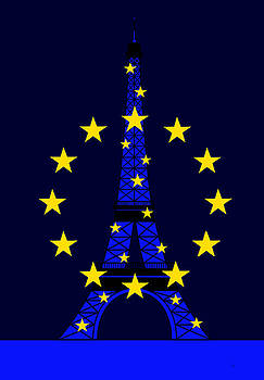 Inspired by the Eiffel Tower and the European Union by Asbjorn Lonvig