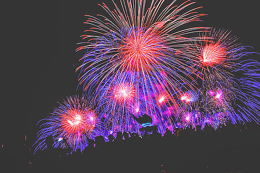July 4th Fireworks in Seattle by Hisao Mogi