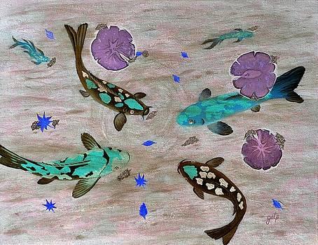 Koi Fish Feng Shui by Georgeta  Blanaru