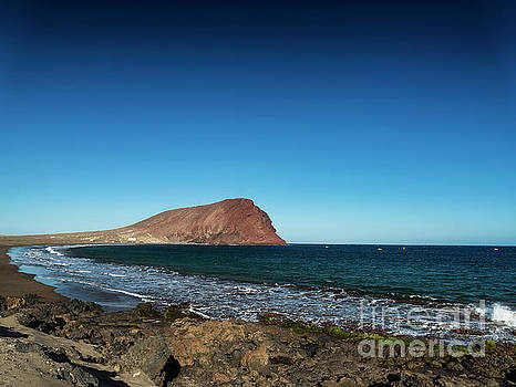 La Tejita Beach And Montana Roja In South Tenerife Spain by Jacek Malipan