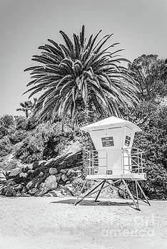 Paul Velgos - Laguna Beach Lifeguard Tower Black and White Picture