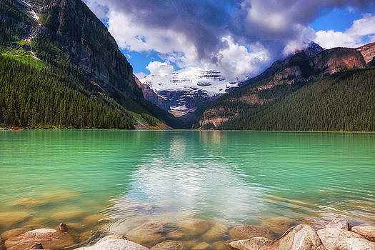 Lake Louise is REALLY Green by Monte Arnold