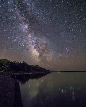 Lake Oahe  by Aaron J Groen