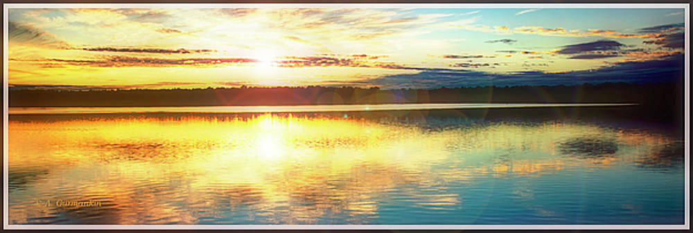 Lake Sunset, Pocono Mountains, Pennsylvania by A Gurmankin