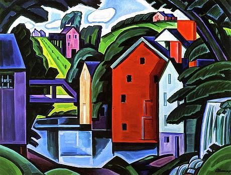 Landscape  by Oscar Bluemner