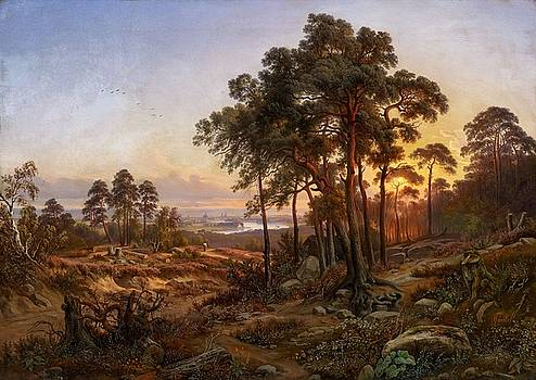 Landscape with a View of Dresden by Anton Castell
