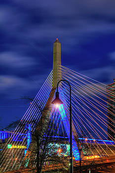 Leonard P Zakim Bridge at Night - Boston by Joann Vitali