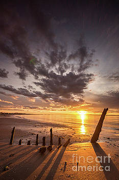 Longniddry Shipwreck Sunset by Keith Thorburn LRPS