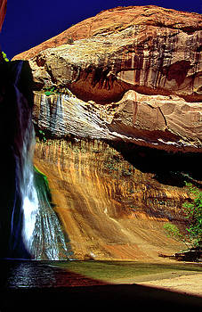 Lower Calf Creek Falls by Sally Weigand