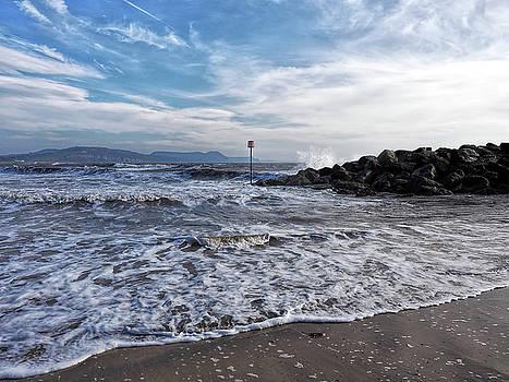 Lyme Regis Seascape - February by Susie Peek