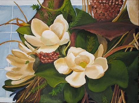 Magnolia Blooms by Rebecca Jackson