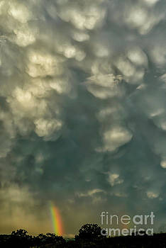 Mammatus Clouds and Double Rainbow by Thomas R Fletcher