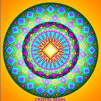 Mandala and energy healing picture - printed on canvas with imprinted energy by Irena Vainter Sela