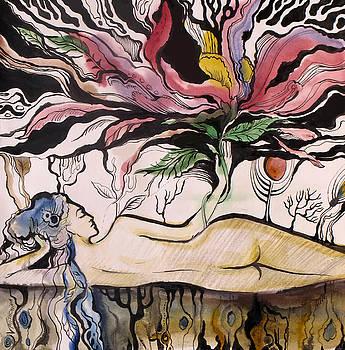 Me and my flower by Valentina Plishchina