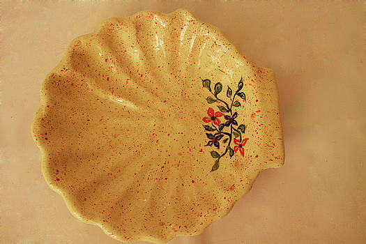 Medium shell plate by Itzhak Richter