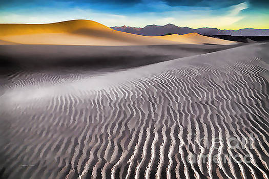 Mesquite Dunes and Grapevine Mountains at Sunrise by Gordon Wood
