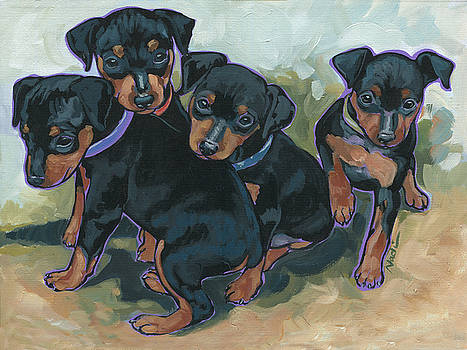 Min Pin Pups by Nadi Spencer