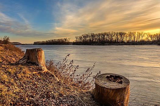 Missouri River Sunrise by Mark McDaniel