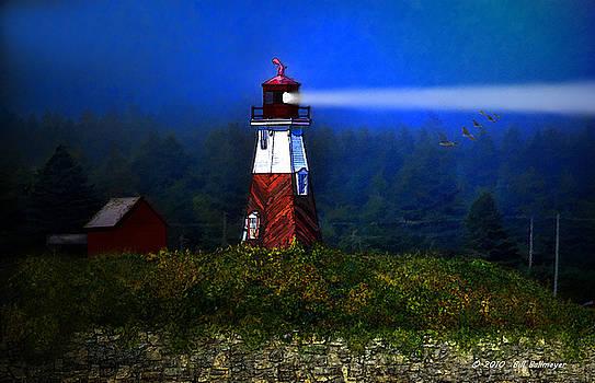 Misty Morning Lighthouse by Bill