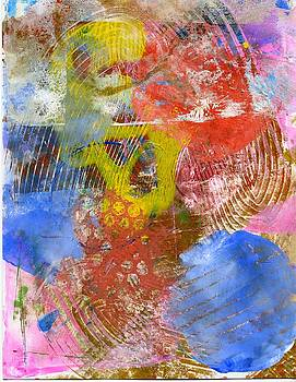 Monoprint abstract by Dawn Dreibus