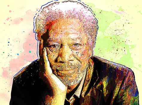 Morgan Freeman by Elena Kosvincheva