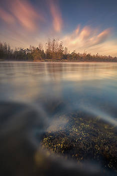 Morning on river by Davorin Mance