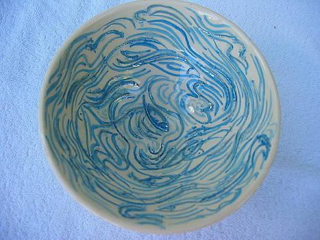 Mother-of-pearl bowl by Julia Van Dine