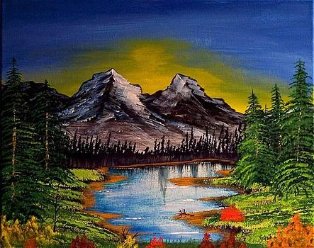 Mountain Sunrise by J Ringo