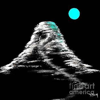 Mt Fuji blue moon by Gordon Lavender