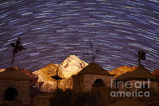 James Brunker - Star Trails above Mt Huayna Potosi and Milluni Cemetery