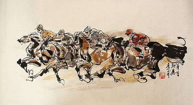 My Impression Of Horse Racing 1 by Xiaochuan Li