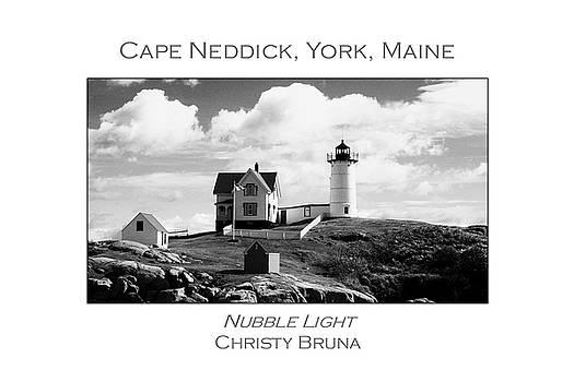 Nubble Light by Christy Bruna