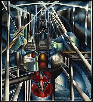 Old Brooklyn Bridge by Joseph Stella