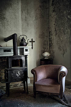 Old Sofa Waiting - Abandoned House by Dirk Ercken