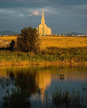 Oquirrh Mt Temple  by Carl Nielsen