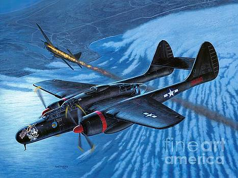 P-61 Black Widow - Caught In The Web by Stu Shepherd