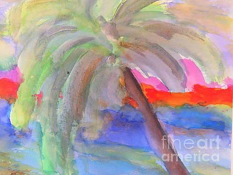 Palm tree by France Laliberte