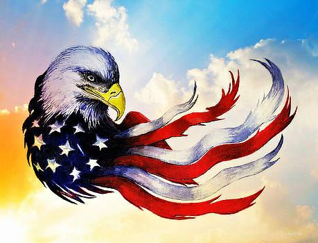 Patriotic Eagle by Andrew Read
