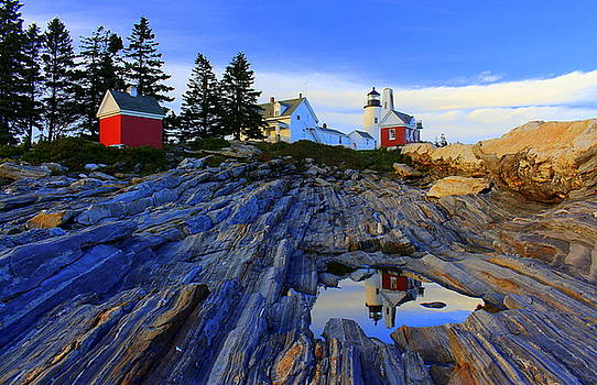 Pemaquid Point Light Reflections by Suzanne DeGeorge
