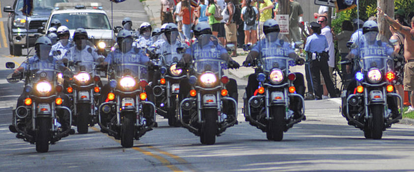 Philadelphia - Police Motorcycle Unit by Bill Cannon