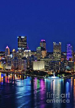 Pittsburgh Night Skyline by John Greim