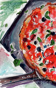 Ginette Callaway - Pizza Diptych Original Italian Food Left Half