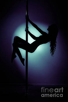 Pole Dancer In Silhouette by Amanda And Christopher Elwell