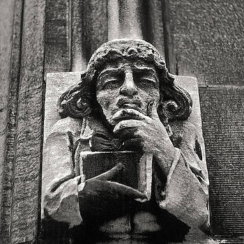 Pondering Gargoyle University of Chicago 1976 by Joseph Duba